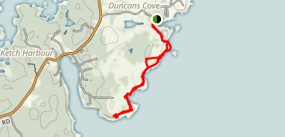 Duncan's Cove Trail [Private Property] Map