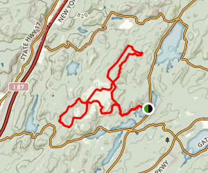 Long Path to Ramapo-Dunderbuerg, White Bar and RD Loop Trail Map