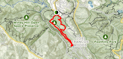 Arroyo, Old Spanish and Toyon Trail Map