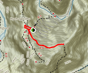 Machu Picchu and Sun Gate Loop Map