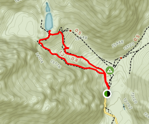 Saraypampa Trek to Glacier Lake Map