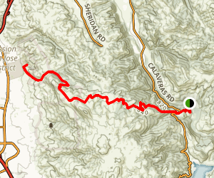 Sunol Wilderness to Ohlone College Map