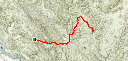 Bear Spring Trail to Mississippi Lake Map