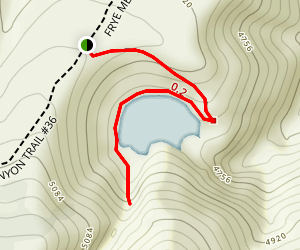 Fyre Mesa Reservoir Trail Map