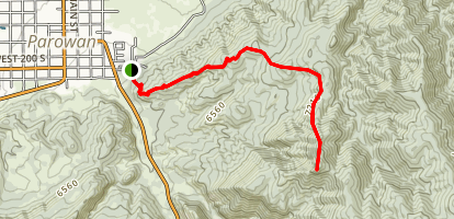 Valentine Peak Trail Map