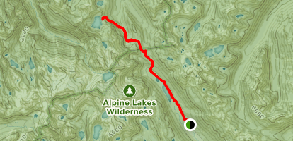 Marmot Lake Trail via Tucquala Meadows Map