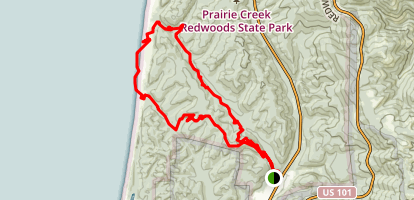 Miner's Ridge and James Irvine Trail Loop Map