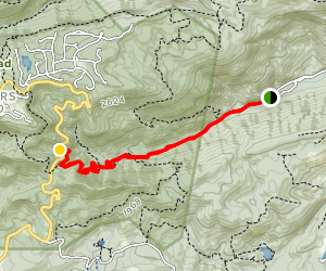 Oil Camp Creek to Pinnacle Pass Trail Map