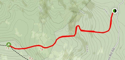 Sugarloaf East Trail to Russel Mountain Map