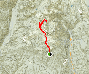Cliff Creek Trail to Pine Lakes Trail Map