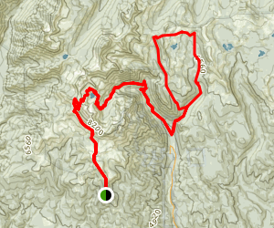 Cliff Creek Trail to Pine Lakes Trail to Blue Creek and Norway Loop Trail Map