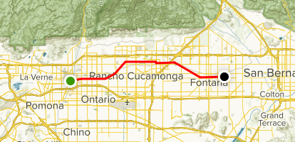 Pacific Electric Trail Map