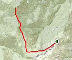 Magruder Mountain Trail Map