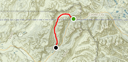 Pebble Creek Trail via Northeast Trailhead Map