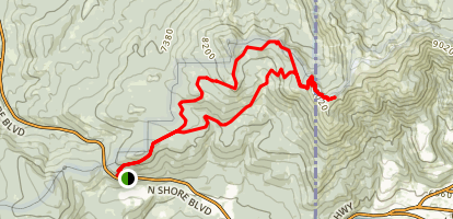 Brockway Summit to Mount Baldy Loop Map