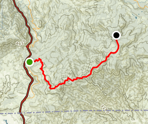 Pilot Rock and Little Pilot Peak via the PCT Map