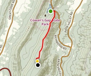Tuscarora Trail: Cowans Gap to Tower Rd Map