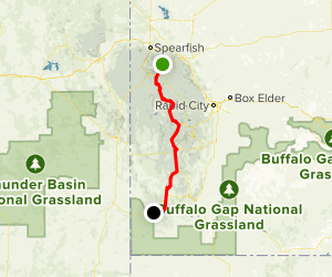 George S. Mickelson Trail Map