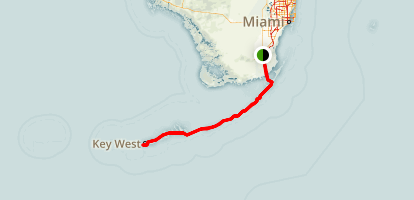 Overseas Highway Scenic Drive Map