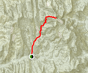 Fool Creek Peak Map