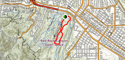 Red Rock Rim Trail to Red Rock Canyon Trail Map
