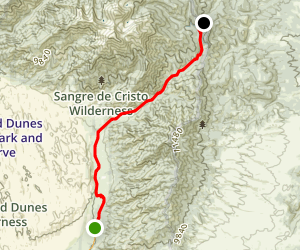 Pinyon Flats to Medano Pass Map