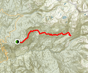 Ninemile Creek to Bearpaw Meadow Via High Sierra Trail Map