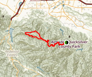 Sierra Azul Open Space Preserve Loop Map