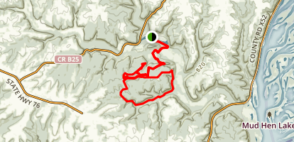 Saddle Trail to Tower Map