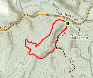 White Pine and Forester Loop Trail Map
