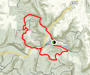 Larkin Valley and Paint Creek Loop Trail Map