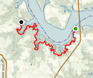 Cross Timbers Hiking Trail Map
