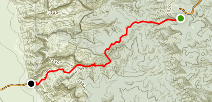 Dog Canyon from Sunspot Map