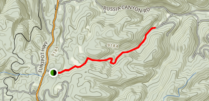 Upper Karr Canyon Hike Map
