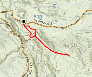 Specimen Ridge & Amethyst Mountain Trails Map