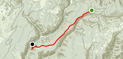 Stoner Mesa Trail to Twin Spring Map
