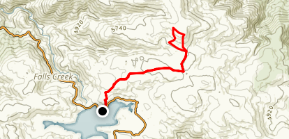 Mount Nelse from Rocky Valley Storage Map