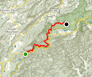 Tanawha Trail Via Beacon Heights Map