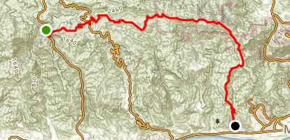 Backbone Trail to Mesa Peak Map