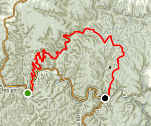 Red River Gorge to Cave Run Lake Map