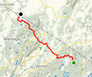 Wallkill and Vernon Valleys via Appalachian Trail Map