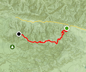 Mt. Pinos via McGill Trail Map