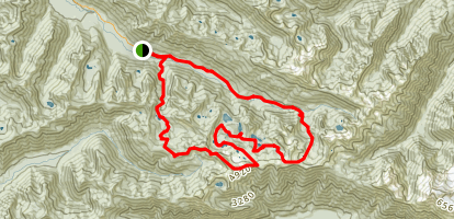 High Divide and Seven Lakes Basin Map
