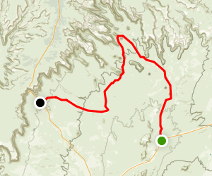 Valley of the Gods Road Trail Map