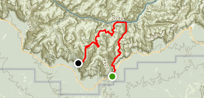 Tonto Trail: New Hance Trail to Grandview Point Map