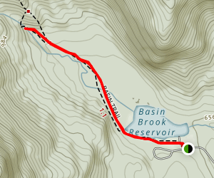 Basin and Hermit Falls Trail Map