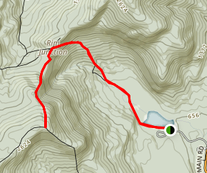 Basin Rim Trail to Mount Meader Map