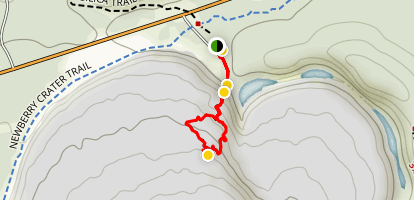 Big Obsidian Flow Trail Map