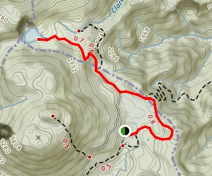 Freshwater Lake to Boeri Lake Trail Map