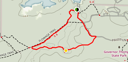 Flowage and Thunder Mountain Loop Map